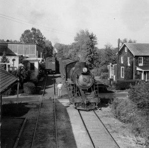 The historic Ma & Pa Railroad in 1946 in Glen Arm, MD